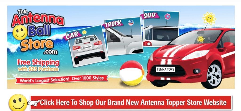 bolas para antenas de carros