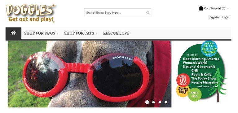 ideias de empreendedorismo - óculos para cães