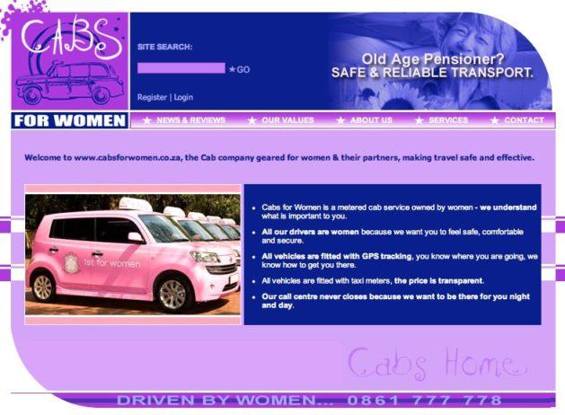segmentação de mercado por gênero - Cabs for Women