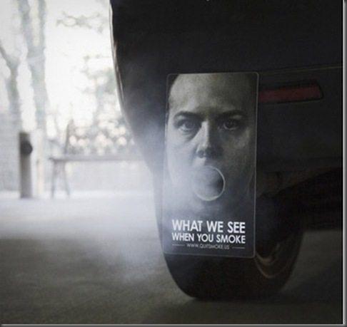 Marketing de Guerrilha - campanha anti fumo