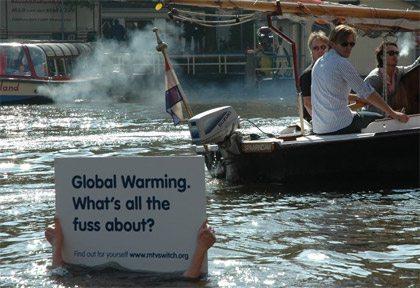 Marketing de guerrilha - contra aquecimento global