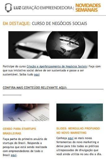 000 - A- Newsletter13 - LUZ Geração Empreendedora