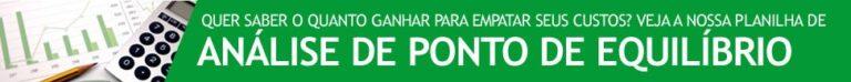 Banner Blog - Planilha de Análise de Ponto de Equilíbrio
