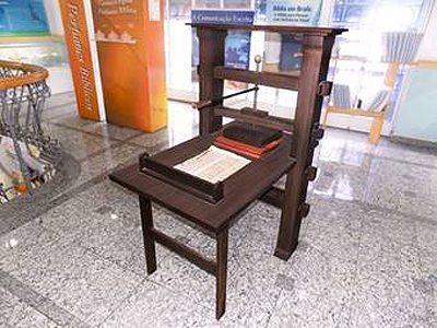 Réplica da Prensa de Gutenberg