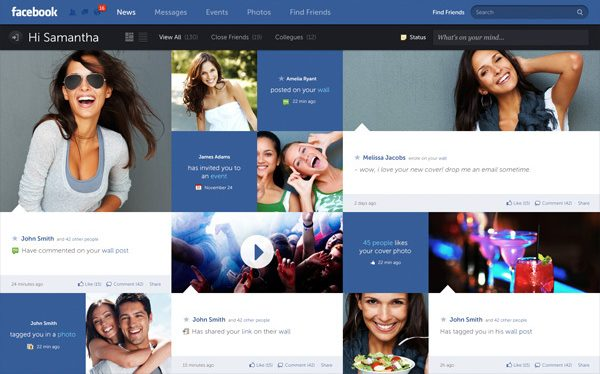 10 Exemplos de Re-design Conceituais de sites famosos feitos por usuários comuns 1