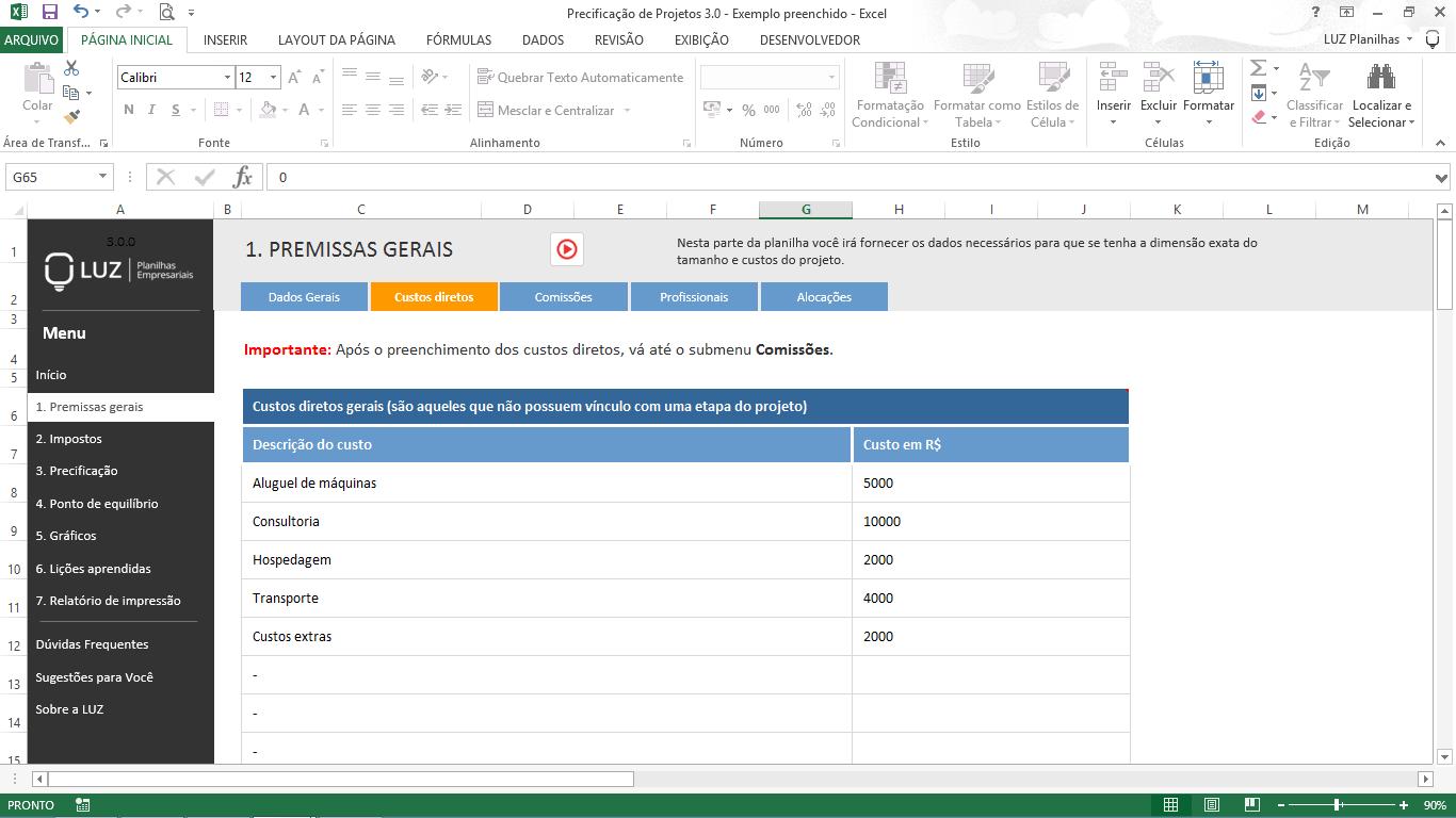 Como calcular preço de venda - precificação de projetos