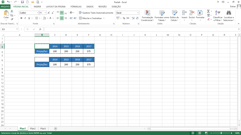 Atalho para Colar no Excel