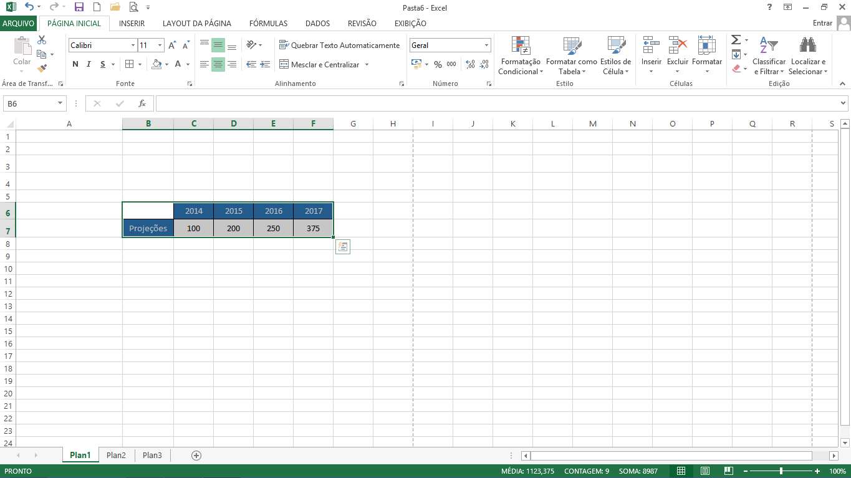 Atalho para Cortar no Excel