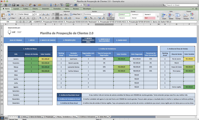 Screenshot - Planilha Prospecção de Clientes 5