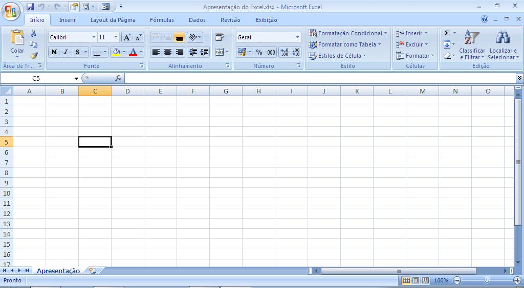 Como funciona o Excel