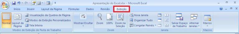 Como funciona o Excel - Guia Exibição