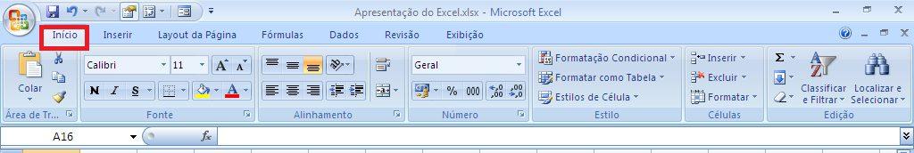 Como funciona o Excel - Guia Início