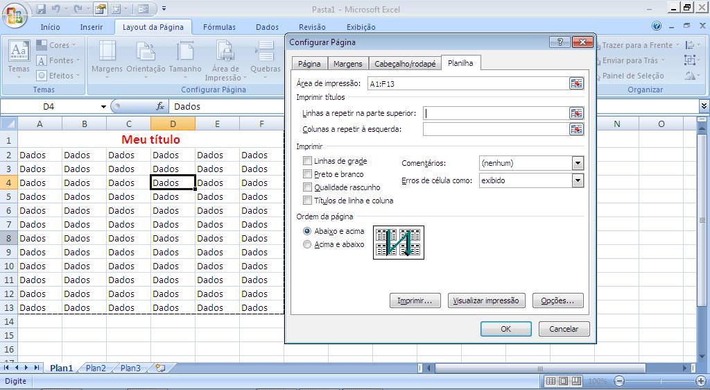 Imprimir Relatório no Excel - parte 10