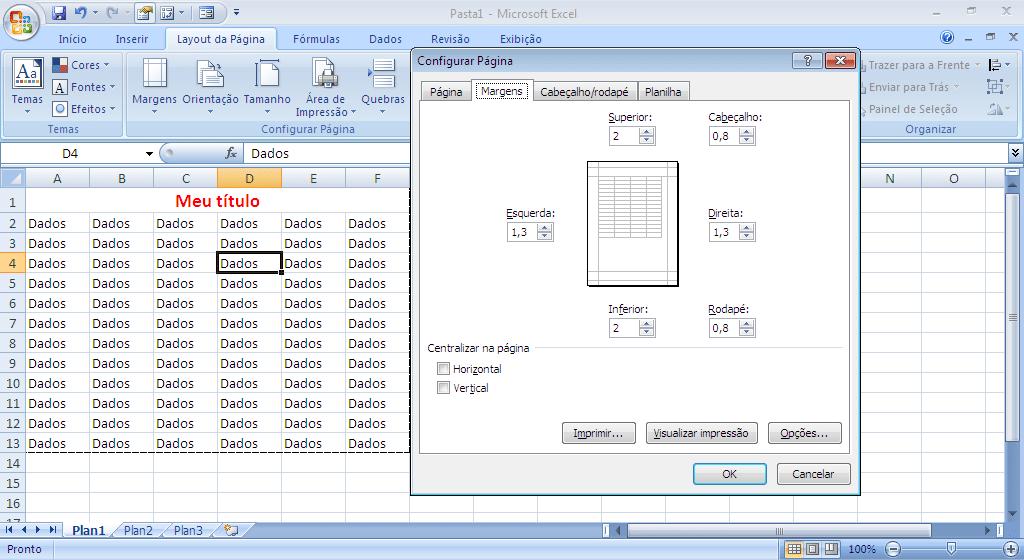 Imprimir Relatório no Excel - parte 13