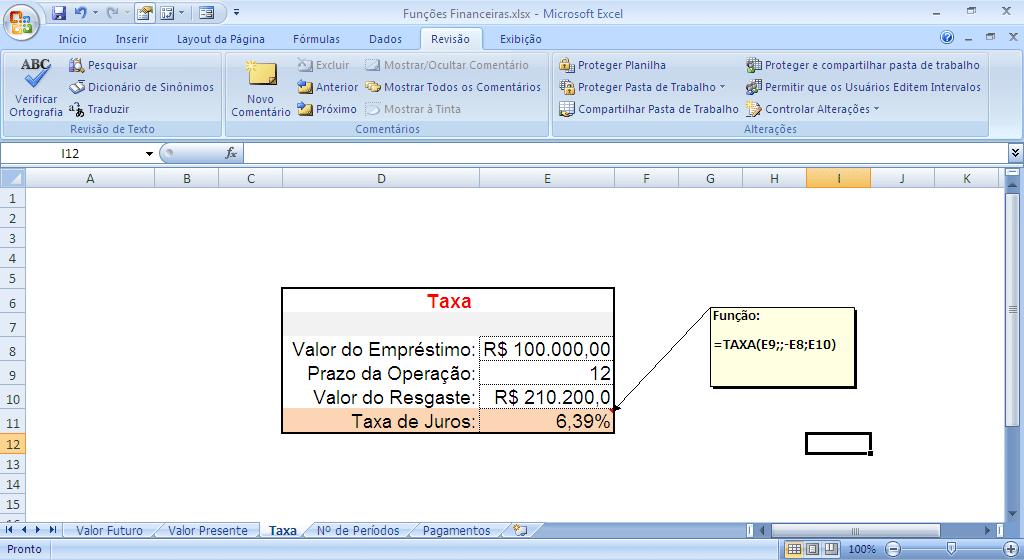 Finanzfunktionen in Excel