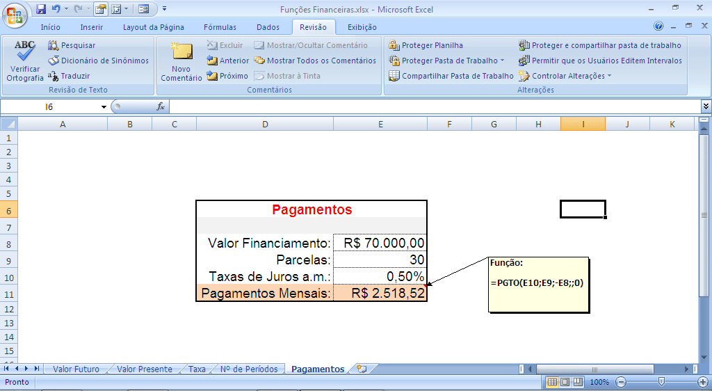 Finanzfunktionen in Excel
