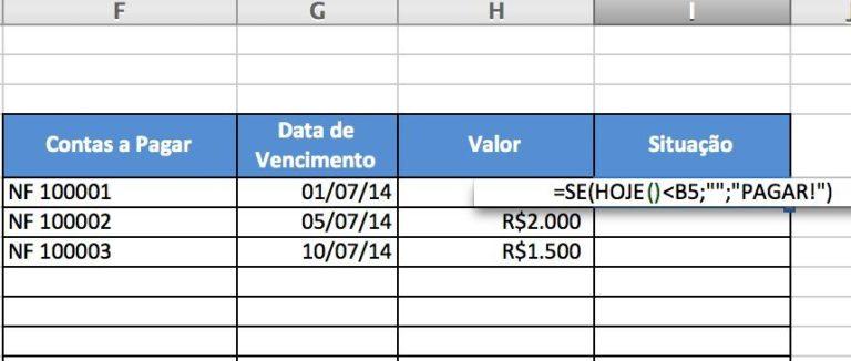 2 Aplicações da Fórmula HOJE() do Excel que Mudarão sua Vida 2