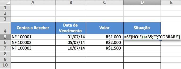 2 Aplicações da Fórmula HOJE() do Excel que Mudarão sua Vida 1