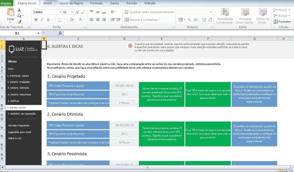 Planilha de EVE 3.0, uma das ferramentas de gestão mais importantes