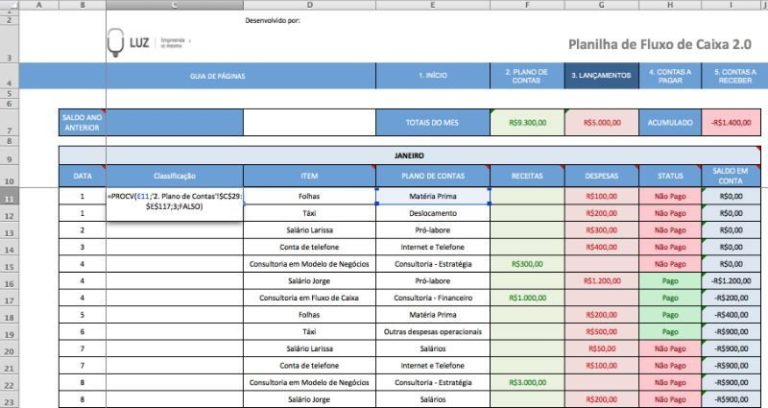 Lançamentos 2 - Classificação Preenchida