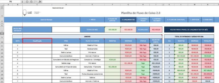 Lançamentos 2 - Classificação