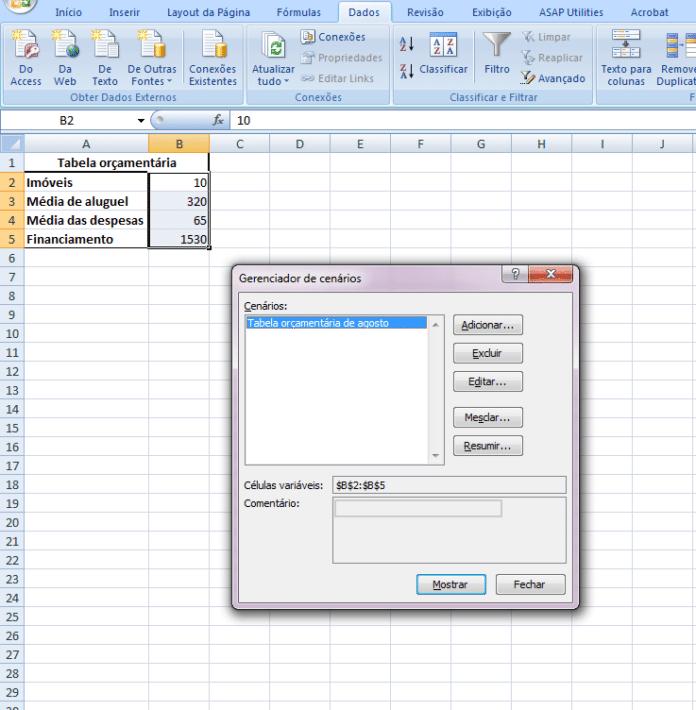 Aprenda A Crear Escenarios En Excel