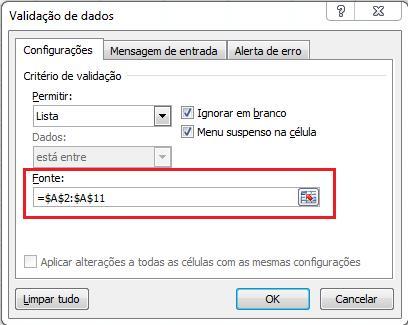 Usando o gerenciador de nomes no Excel