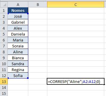 Faça buscas com a função Desloc e Corresp