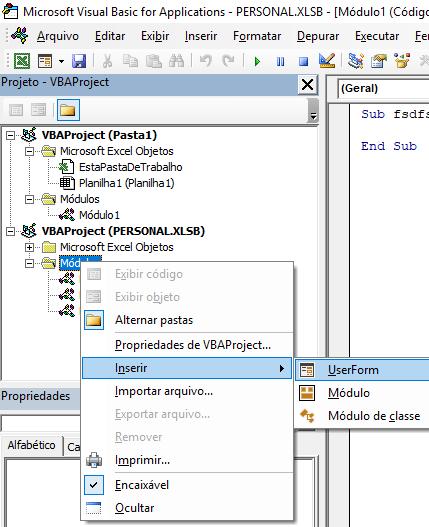 Introdução ao VBA no Excel 1