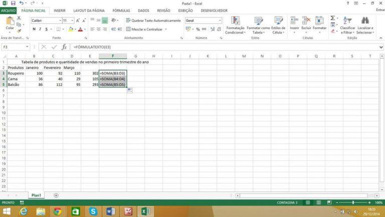 Conheça a função formulatexto no Excel 2013
