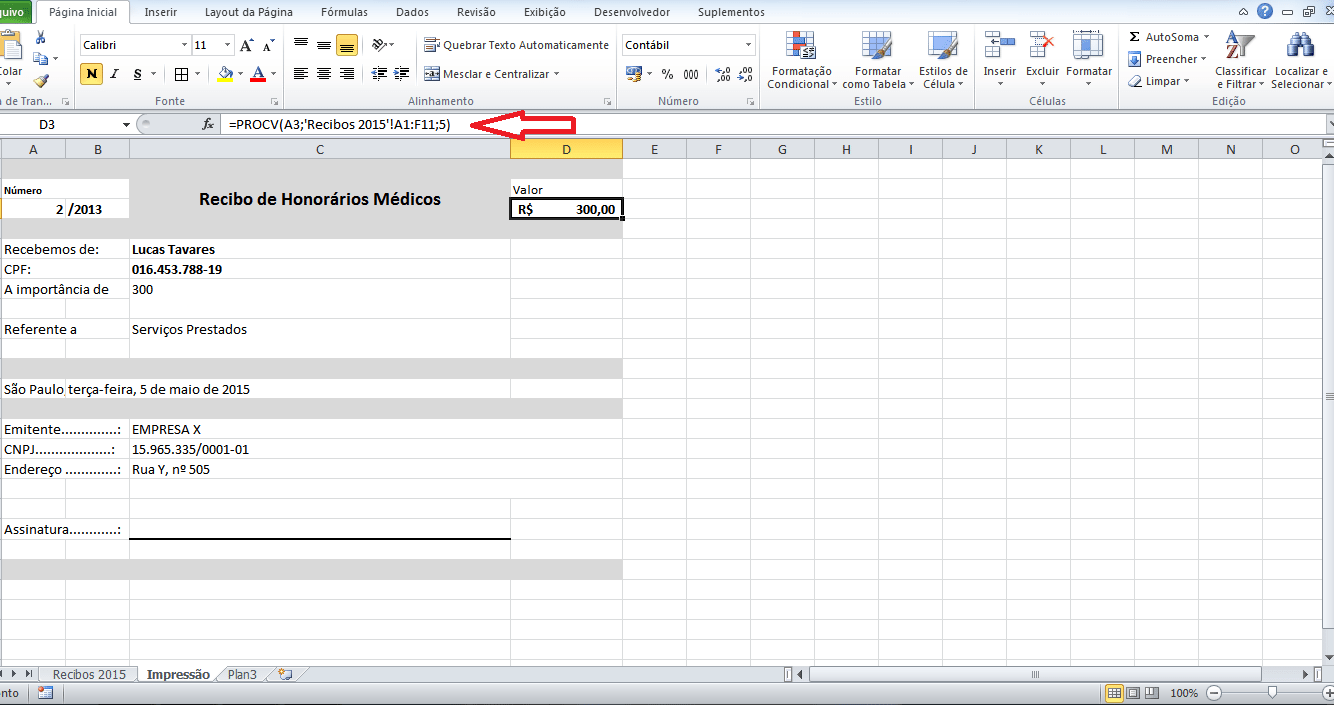 Como fazer um Modelo de Recibo no Excel