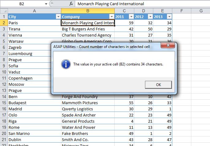 Wie man Zeichen in Excel zählt - Blog LUZ