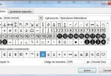 Cómo escribir signo diferente en Excel