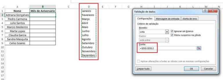 Como Fazer uma Lista/Menu Dropdown no Excel
