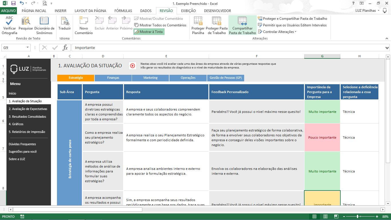 Diagnóstico Organizacional - Perguntas