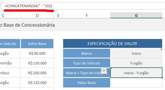 PROCV with more than one condition - value searched with concatenate