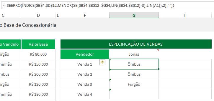 PROCV retornando todos os valores - funções 4