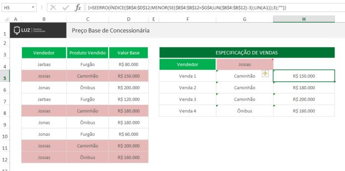 PROCV returning all values - end result