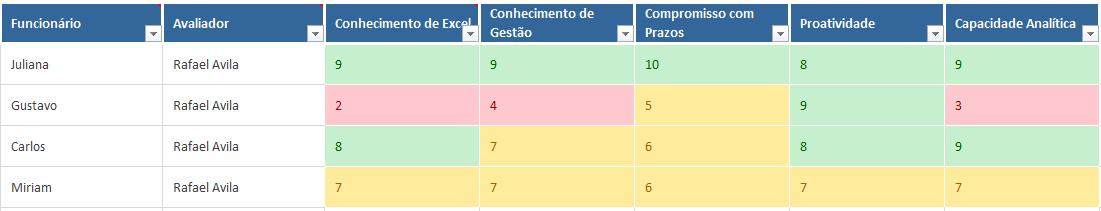 Avaliacao de desempenho por competencias - avaliacao dos funcionarios