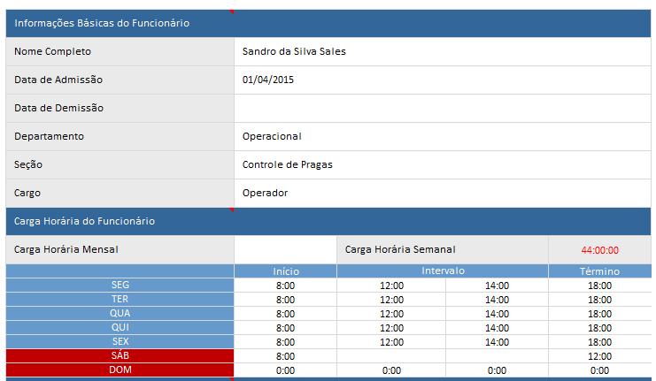 Folha de pagamento - holerite - cadastro do funcionário e informações