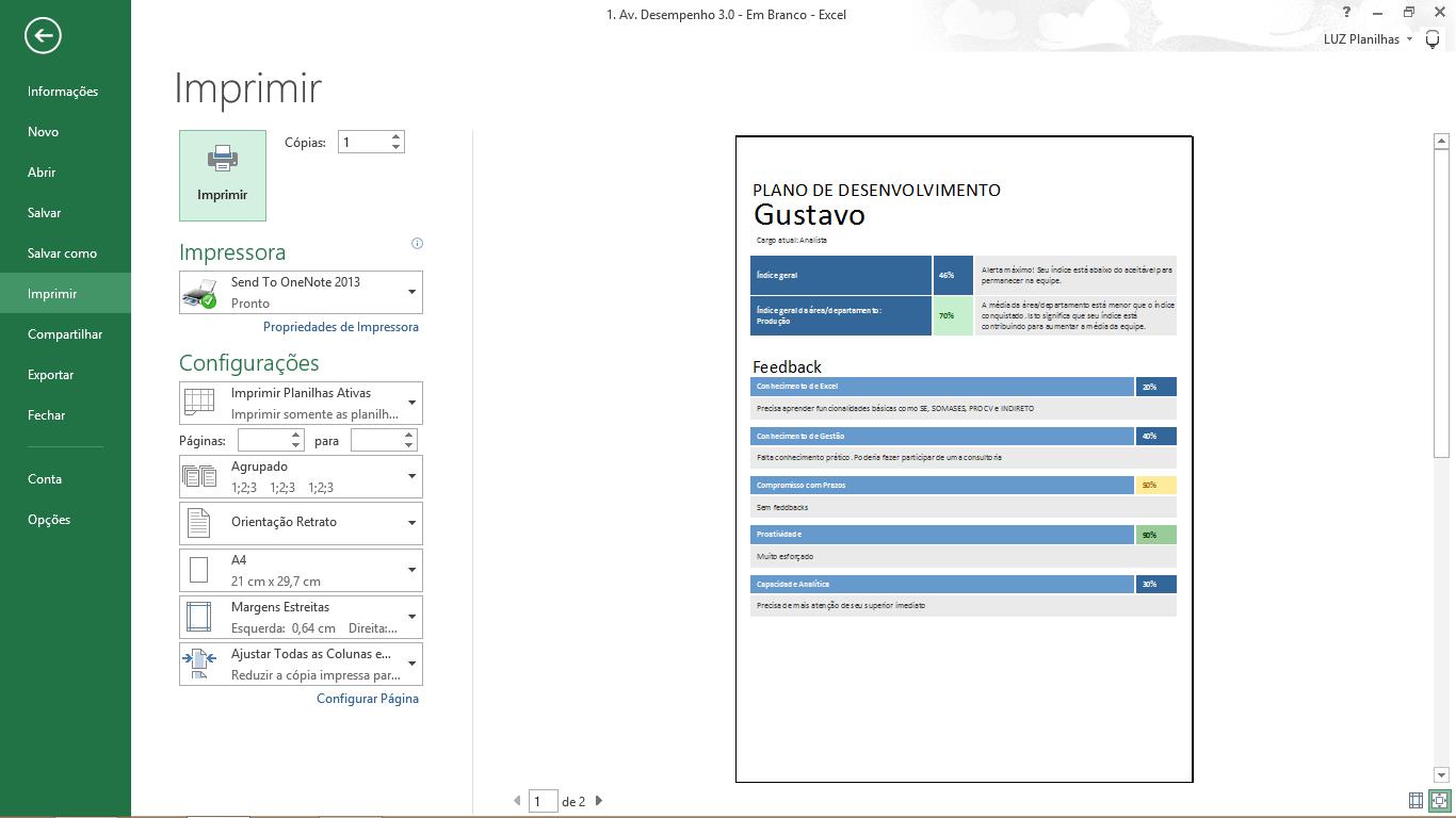 Avaliacao de desempenho por competencias - plano de desenvolvimento para impressao