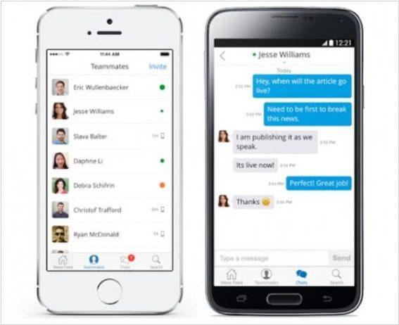 comunicacao interna - slack mobile app