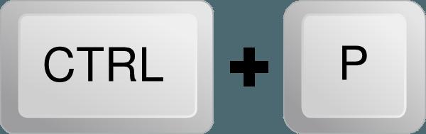 atalho de teclado - visualizar impressao - ctrl p