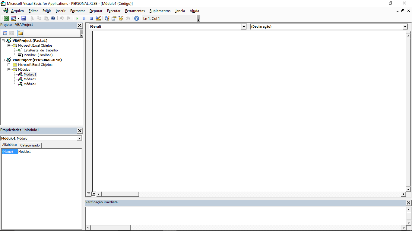 atalho de teclado - visualizar impressao - modulo vba