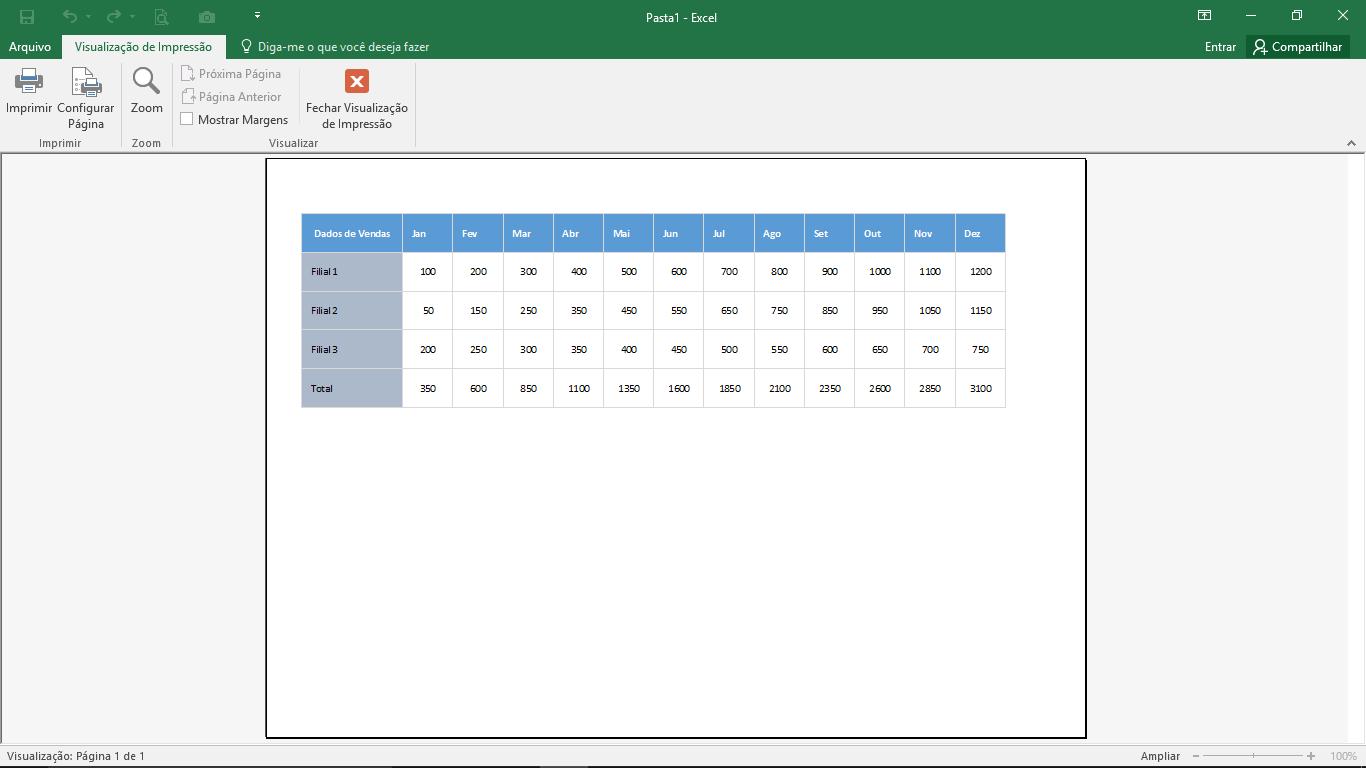atalho de teclado - visualizar impressao - visualizacao de impressao usando macro