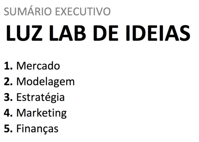 Sumário Executivo - Planilha de Plano de Negócios