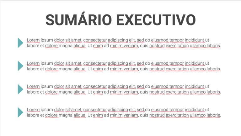 sumario executivo