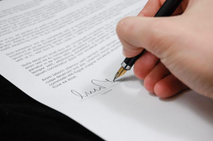 gestão de contratos - assinatura