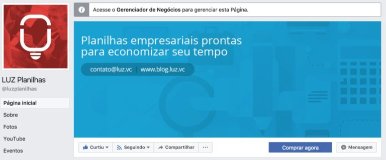 fanpage-luz-planilhas-exemplo-marketing-social