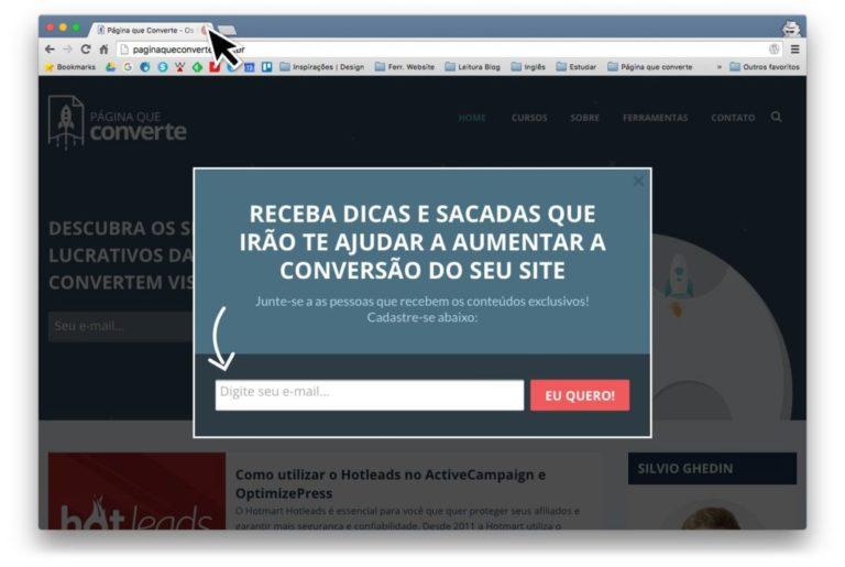 Exemplo de Formulário Pop-up
